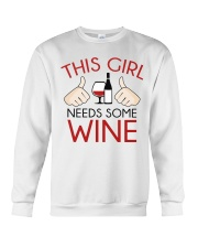 this girl needs some wine Crewneck Sweatshirt thumbnail
