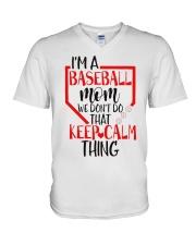 baseball V-Neck T-Shirt thumbnail