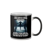 NEVER UNDERESTIMATE A MAN WHO WAS BORN IN JANUARY Color Changing Mug tile