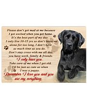 Labrador Remember I Love You  17x11 Poster front