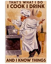 Chef That's What I Do I Cook I Drink Poster 16x24 Poster front