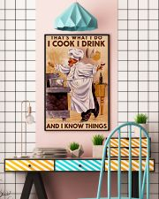 Chef That's What I Do I Cook I Drink Poster 16x24 Poster lifestyle-poster-6