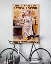 Chef That's What I Do I Cook I Drink Poster 16x24 Poster lifestyle-poster-7