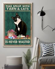 Cat Time Spent With Yarn Poster 16x24 Poster lifestyle-poster-1