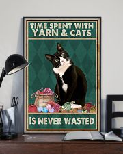Cat Time Spent With Yarn Poster 16x24 Poster lifestyle-poster-2