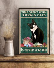 Cat Time Spent With Yarn Poster 16x24 Poster lifestyle-poster-3