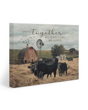 Farm And So Together They Built A Life 20x16 Gallery Wrapped Canvas Prints front