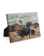 Farm And So Together They Built A Life 10x8 Easel-Back Gallery Wrapped Canvas thumbnail