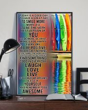 Kayaking Today Is A Good Day 11x17 Poster lifestyle-poster-2