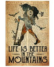 Hiking Life Is Better In The Mountain 11x17 Poster front