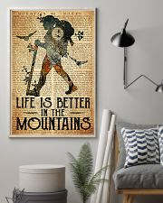 Hiking Life Is Better In The Mountain 11x17 Poster lifestyle-poster-1