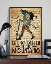 Hiking Life Is Better In The Mountain 11x17 Poster lifestyle-poster-2