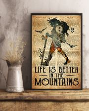 Hiking Life Is Better In The Mountain 11x17 Poster lifestyle-poster-3