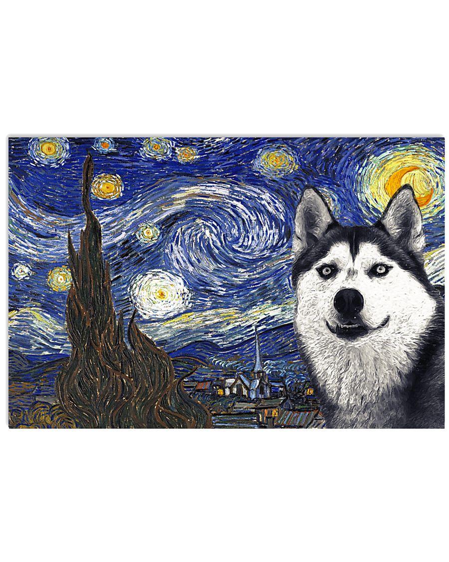 Husky Van Gogh Style Poster 17x11 Poster