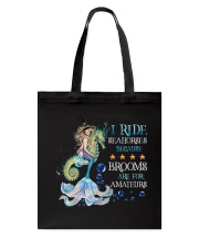Mermaid I Ride Seahorses Tote Bag tile