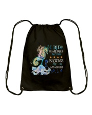 Mermaid I Ride Seahorses Drawstring Bag tile