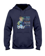 Mermaid I Ride Seahorses Hooded Sweatshirt tile
