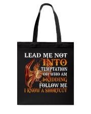 Dragon Lead Me Not Into Tote Bag tile