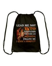Dragon Lead Me Not Into Drawstring Bag tile