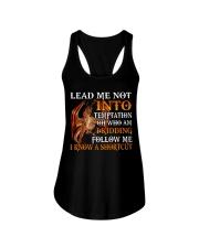 Dragon Lead Me Not Into Ladies Flowy Tank tile