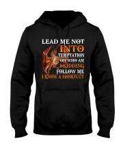 Dragon Lead Me Not Into Hooded Sweatshirt tile