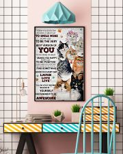 Cat Today Is A Good Day 16x24 Poster lifestyle-poster-6