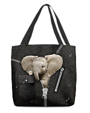 Elephant Zipper All-over Tote back