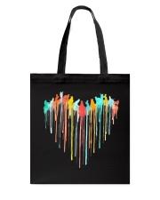 Cat Colorful Heart Tote Bag tile