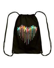 Cat Colorful Heart Drawstring Bag tile