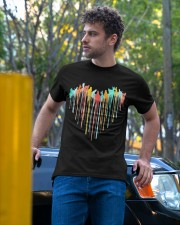 Cat Colorful Heart Classic T-Shirt apparel-classic-tshirt-lifestyle-front-44