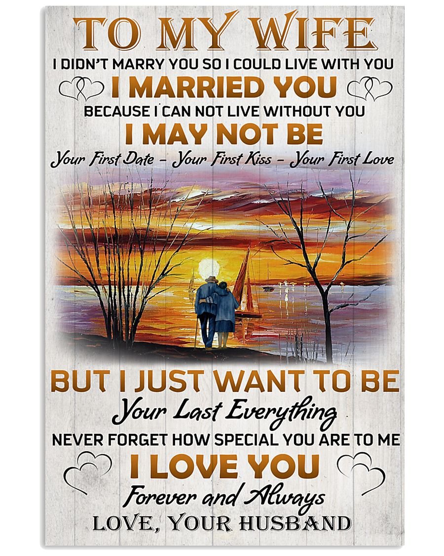 Family To My Wife I Didn't Marry You 11x17 Poster
