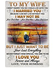 Family To My Wife I Didn't Marry You 11x17 Poster front