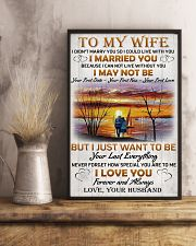 Family To My Wife I Didn't Marry You 11x17 Poster lifestyle-poster-3