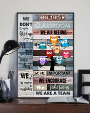 Teacher In This Classroom We Are A Team 11x17 Poster lifestyle-poster-2