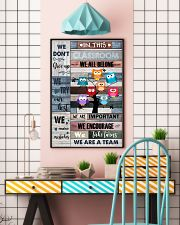 Teacher In This Classroom We Are A Team 11x17 Poster lifestyle-poster-6