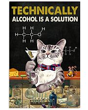 Cat Technically Alcohol Is A Solution Poster 16x24 Poster front
