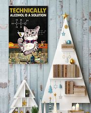 Cat Technically Alcohol Is A Solution Poster 16x24 Poster lifestyle-holiday-poster-2