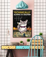 Cat Technically Alcohol Is A Solution Poster 16x24 Poster lifestyle-poster-6