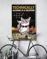 Cat Technically Alcohol Is A Solution Poster 16x24 Poster lifestyle-poster-7