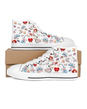 Temp Nurse Shoe Women's High Top White Shoes outside-right-inside-right