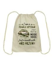 Veteran I Am A Female Veteran Drawstring Bag tile