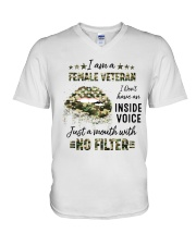Veteran I Am A Female Veteran V-Neck T-Shirt tile