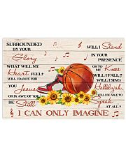 Basketball Surrounded By Your Glory 17x11 Poster front