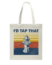 Firefighter I'd Tap That Tote Bag tile