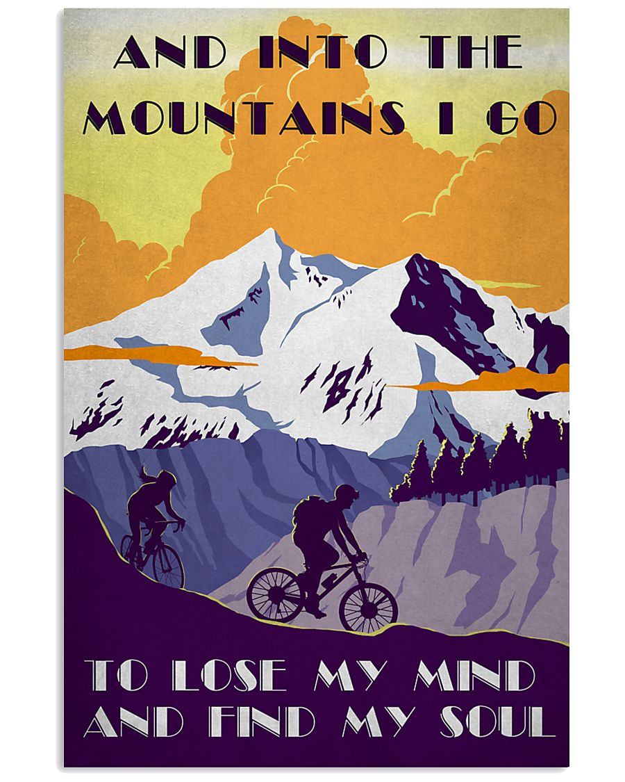 Cycling And Into The Mountains 11x17 Poster