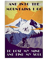 Cycling And Into The Mountains 11x17 Poster front
