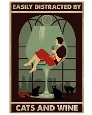 Cat Easily Distracted By Cats And Wine Poster 16x24 Poster front