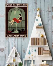 Cat Easily Distracted By Cats And Wine Poster 16x24 Poster lifestyle-holiday-poster-2