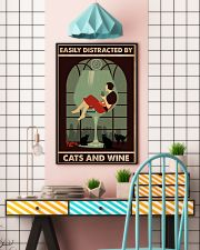 Cat Easily Distracted By Cats And Wine Poster 16x24 Poster lifestyle-poster-6
