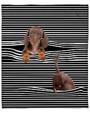 Dachshund Inside Blanket Fleece Blanket tile